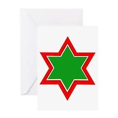 Jewish Star Greeting Card