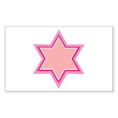 Jewish Star Rectangle Decal