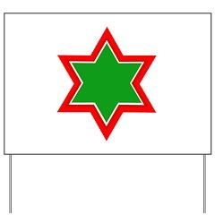 Jewish Star Yard Sign