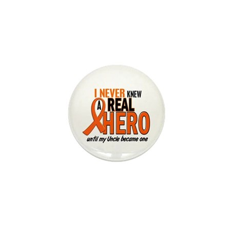 Never Knew A Real Hero 2 ORANGE Mini Button