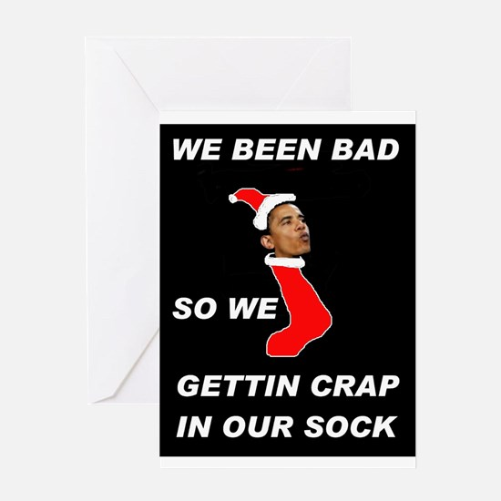 COAL IN YOUR STOCKINGS Greeting Card