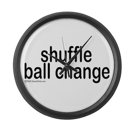 Shuffle Ball Change Large Wall Clock