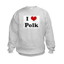 I Love Polk Sweatshirt