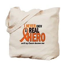 Never Knew A Real Hero 2 ORANGE Tote Bag
