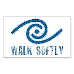 Walk Softly Rectangle Sticker