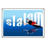 Slalom waterskiing Banners