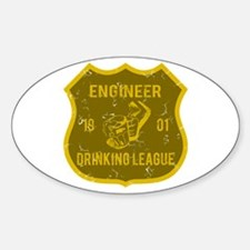Engineer Drinking League Oval Decal