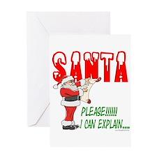 Santa, I can explain Greeting Card