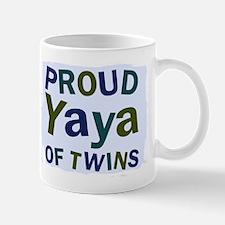 Proud Yaya of Twins Small Mugs