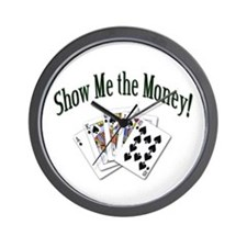 Show Me Money Poker Wall Clock