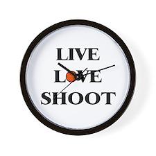Live, Love, Shoot (Basketball) Wall Clock