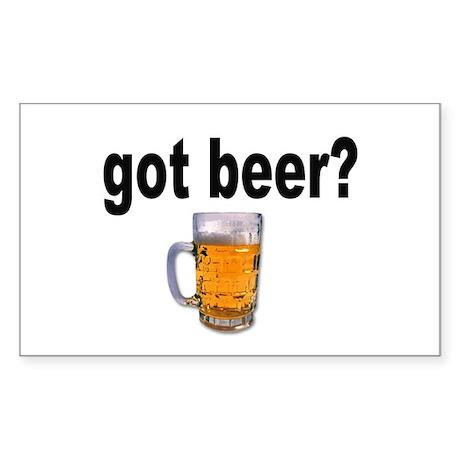 got beer? for Beer Lovers Rectangle Sticker