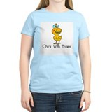 Chick with brains Women's Light T-Shirt