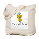Chick with brains Canvas Totes