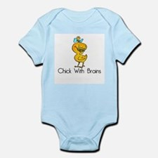 Chick with Brains Infant Bodysuit