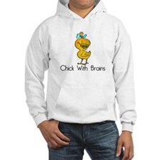 Chick with Brains Hoodie