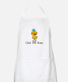Chick with Brains BBQ Apron