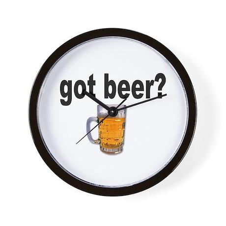 got beer? for Beer Lovers Wall Clock