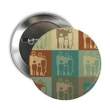 """Social Work Pop Art 2.25"""" Button"""