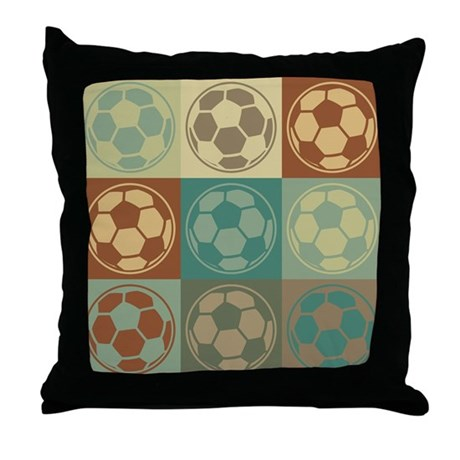 Soccer Pop Art Throw Pillow