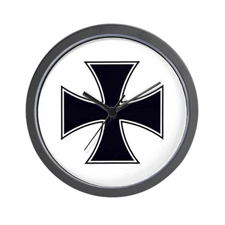 Iron Cross Wall Clock
