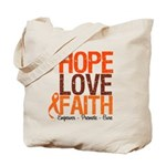 LEUKEMIA Hope Love Faith Tote Bag