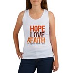 LEUKEMIA Hope Love Faith Women's Tank Top