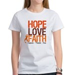 LEUKEMIA Hope Love Faith Women's T-Shirt