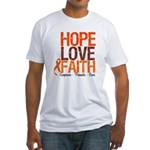 LEUKEMIA Hope Love Faith Fitted T-Shirt