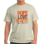 LEUKEMIA Hope Love Faith Light T-Shirt