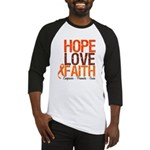 LEUKEMIA Hope Love Faith Baseball Jersey