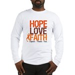 LEUKEMIA Hope Love Faith Long Sleeve T-Shirt