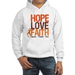 LEUKEMIA Hope Love Faith Hooded Sweatshirt