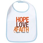 LEUKEMIA Hope Love Faith Bib