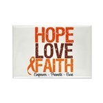 LEUKEMIA Hope Love Faith Rectangle Magnet (10 pack