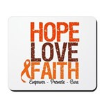 LEUKEMIA Hope Love Faith Mousepad