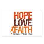 LEUKEMIA Hope Love Faith Postcards (Package of 8)