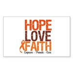 LEUKEMIA Hope Love Faith Rectangle Sticker 10 pk)