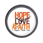 LEUKEMIA Hope Love Faith Wall Clock