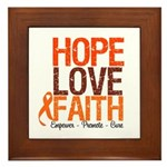 LEUKEMIA Hope Love Faith Framed Tile