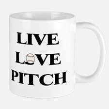 Live, Love, Pitch (Baseball) Mug