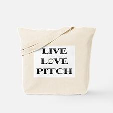 Live, Love, Pitch (Baseball) Tote Bag