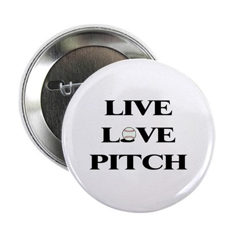 "Live, Love, Pitch (Baseball) 2.25"" Button"