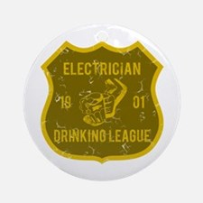 Electrician Drinking League Ornament (Round)