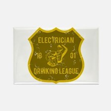 Electrician Drinking League Rectangle Magnet