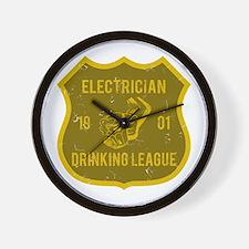 Electrician Drinking League Wall Clock