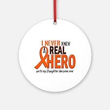 Never Knew A Hero 2 ORANGE (Daughter) Ornament (Ro