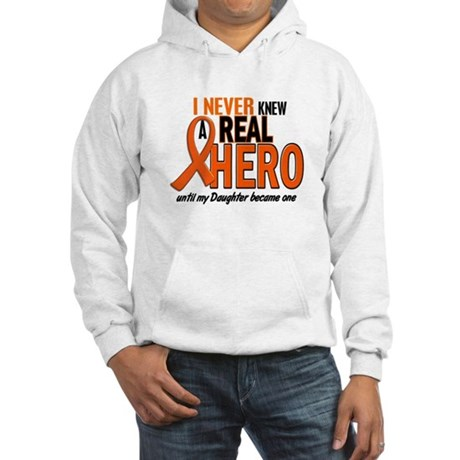 Never Knew A Hero 2 ORANGE (Daughter) Hooded Sweat