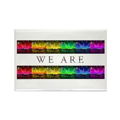 We are Equal Rectangle Magnet