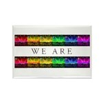 We are Equal Rectangle Magnet (10 pack)